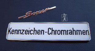 Kennzeichen-Chromrahmen