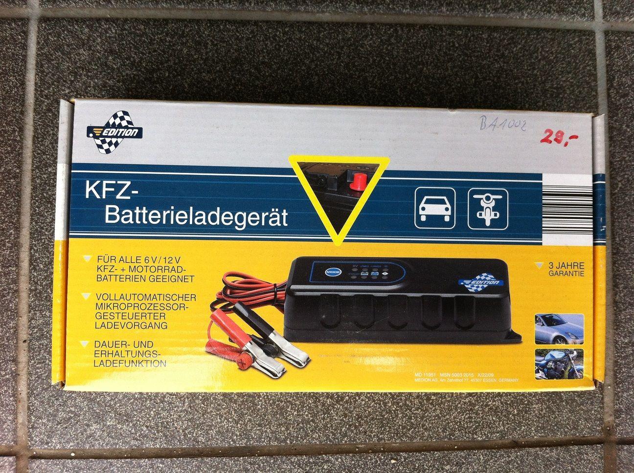 Batterie-Ladegerät 12V / 6V