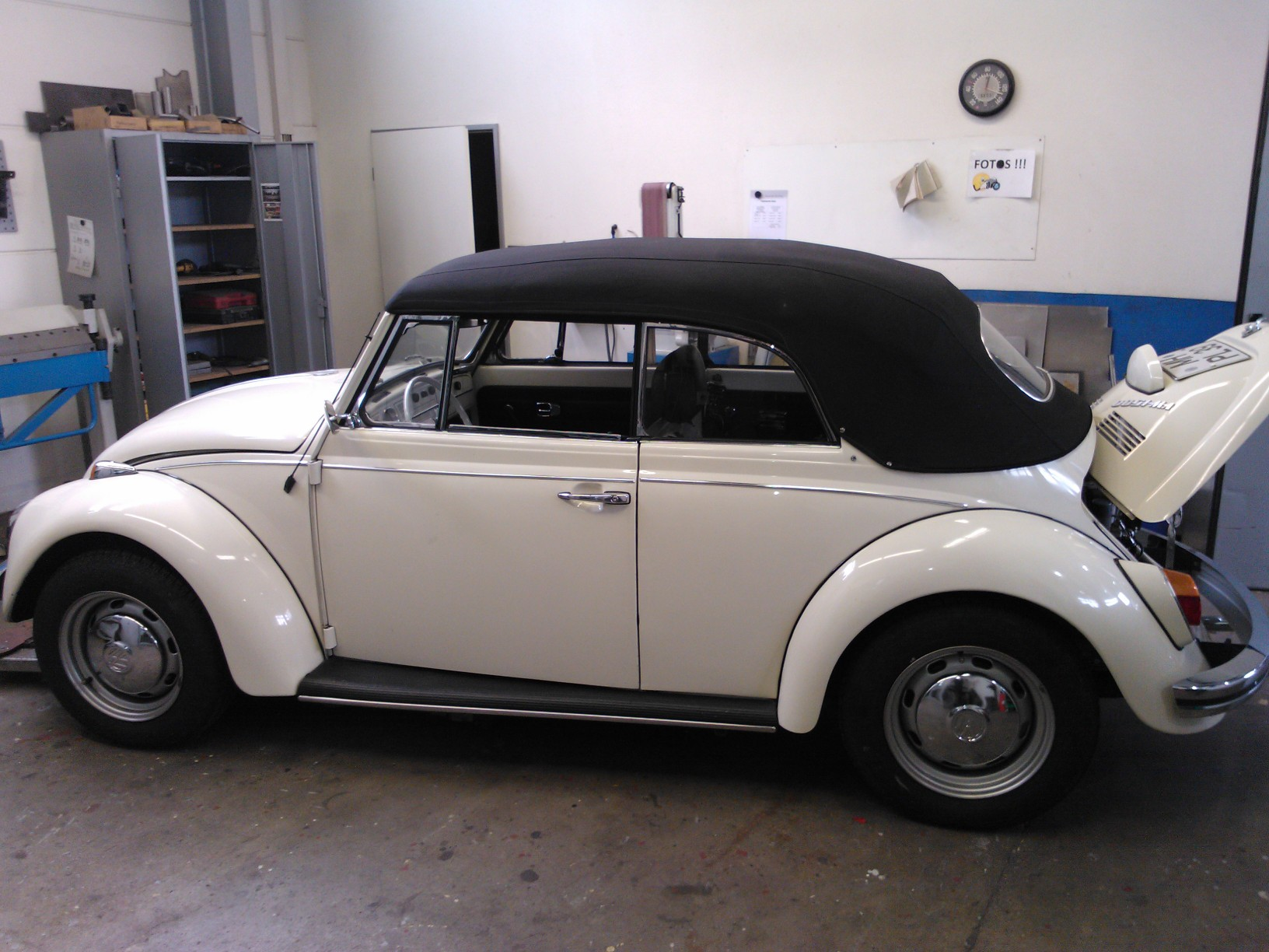 Neues Restaurationsprojekt: 1500er Käfer Cabrio